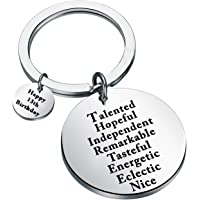 FUSTMW Happy Birthday Keychain Gift 13th 15th 16th 18th 21st 30th 40th 50th Charms Key Ring Best Friends Family Jewelry