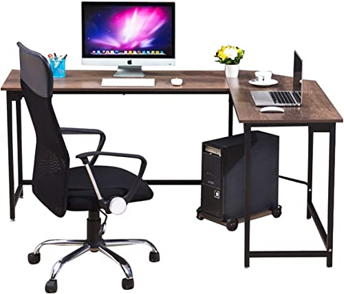 WESTEROS Modern L-Shaped Corner Computer Office Desk PC Laptop Table Workstation Home Office