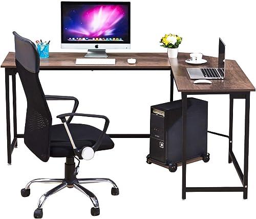WESTEROS Modern L-Shaped Corner Computer Office Desk PC Laptop Table Workstation Home Office