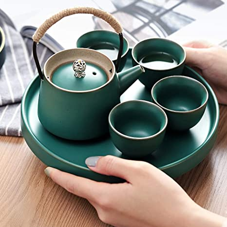 Ceramic office tea set small set water cup and teapot