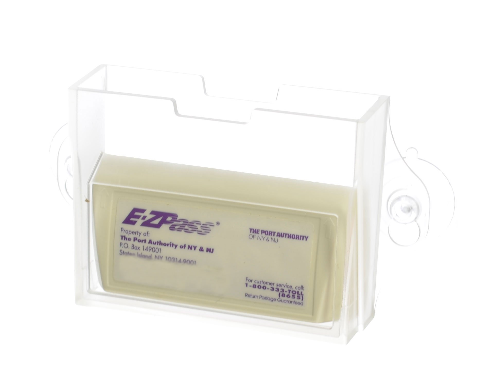 EZ Pass Toll Tag Holder,Fits New & Old Transponder,i-Pass,i-Zoom, Clear by USCAN