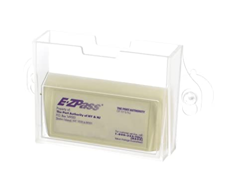 EZ Pass Toll Tag Holder,Fits New & Old Transponder,i-Pass,i-Zoom, Clear