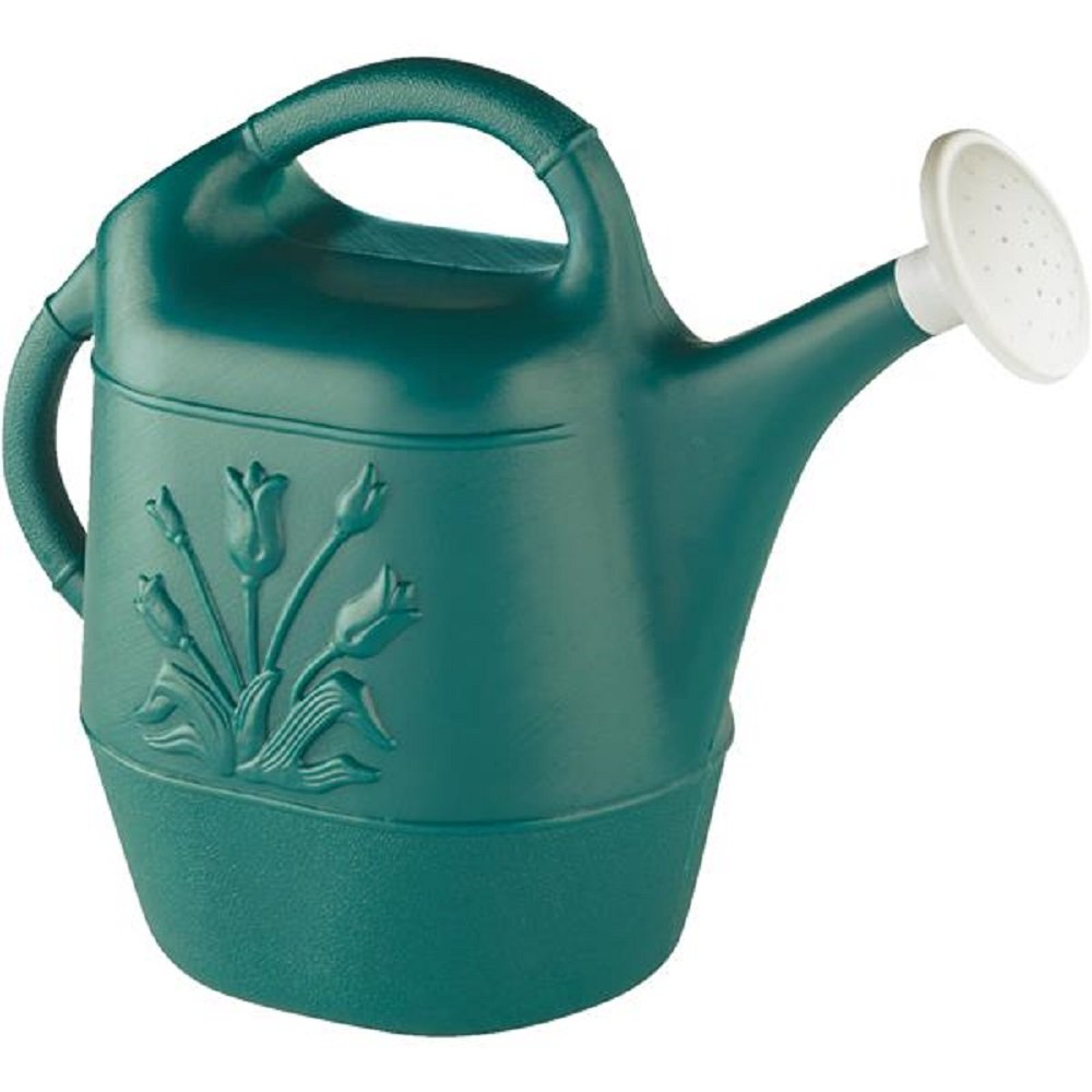 Union 63065 Watering Can with Tulip Design, 2 gallon, Hunter Green