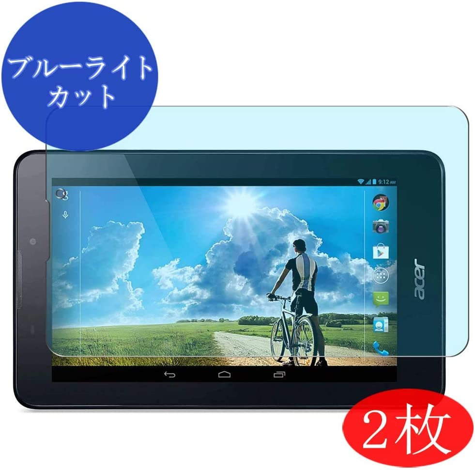 "【2 Pack】 Synvy Anti Blue Light Screen Protector for Acer iconia Tab 7"" A1-713 Anti Glare Screen Film Protective Protectors [Not Tempered Glass]"