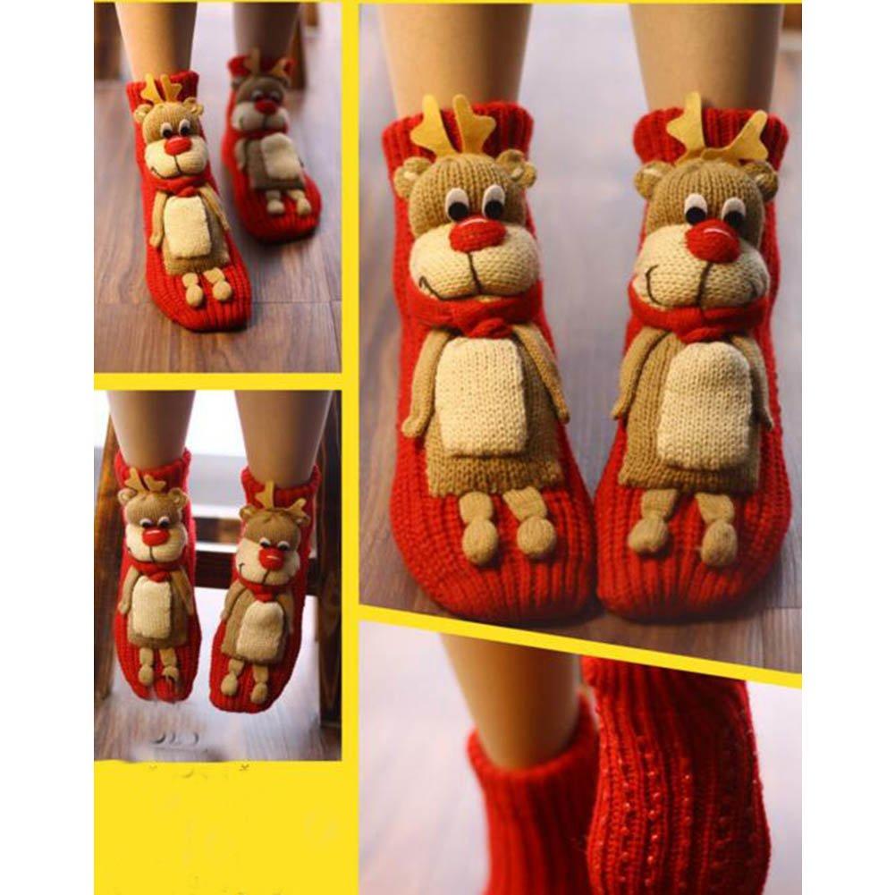 A Pair Non-slip Cute Sleeping Socks Slipper Socks Floor Socks-A01