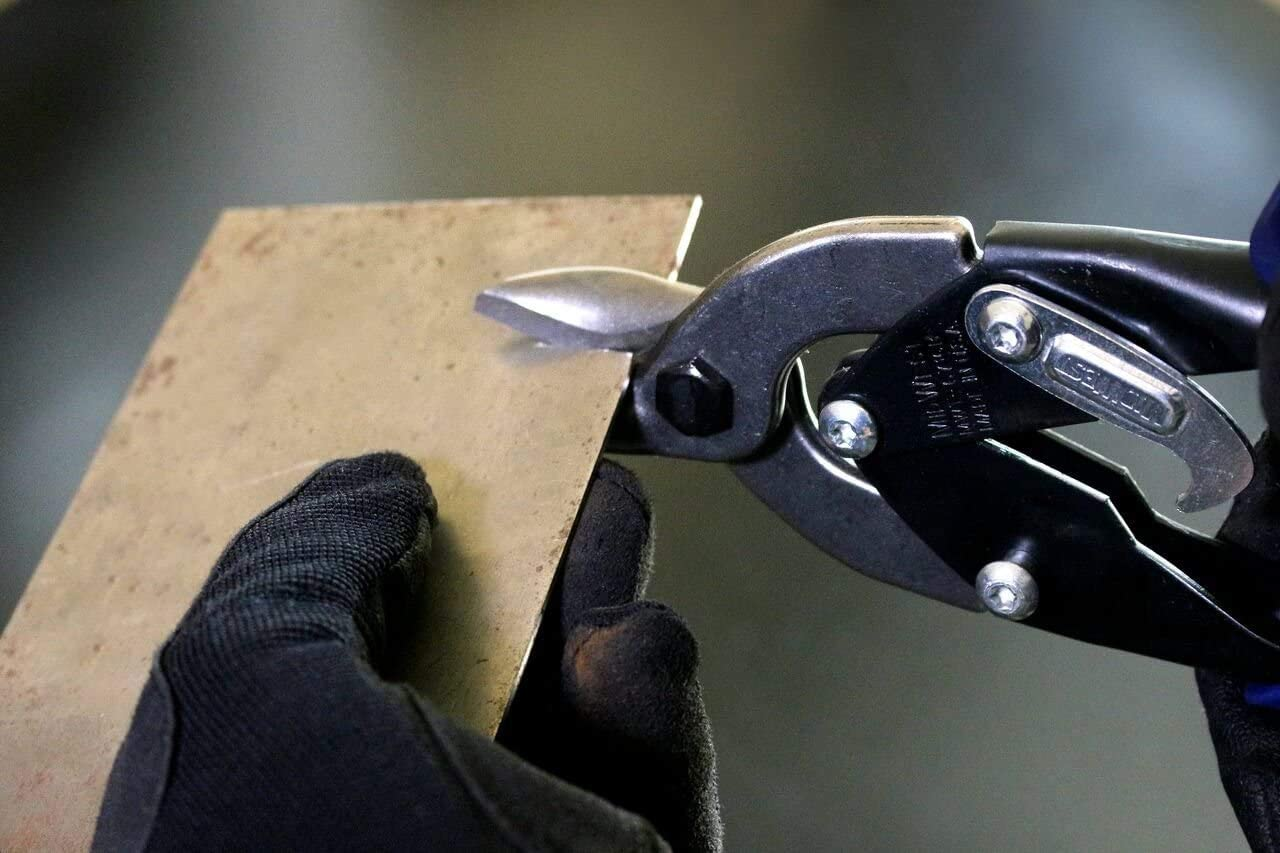 MIDWEST Bulldog Aviation Tin Snip MWT-6716B Straight Cut Regular Tin Cutting Shears with Forged Blade /& KUSHN-POWER Comfort Grips Fivе Расk