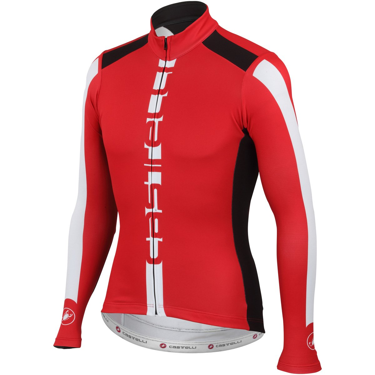 Amazon.com   Castelli AR Jersey FZ Red Blk Wht Size M   Sports   Outdoors 6607088f5