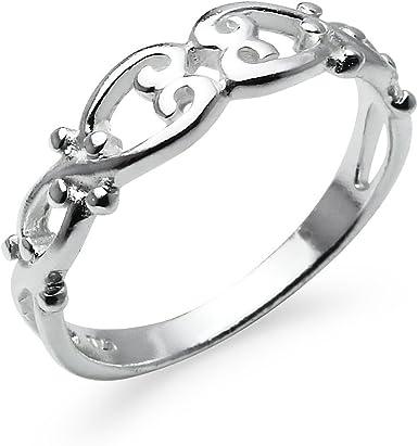 Historical Style Sterling Silver Gimmel Friendship Promise Ring