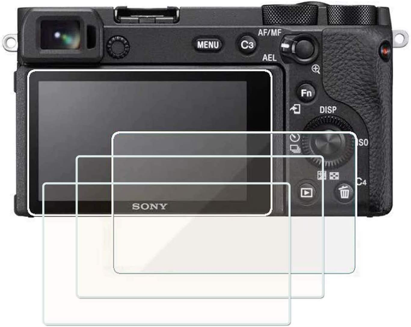 2 Pack Sony A6400 A6500 A6300 A5000 A5100 LCD Tempered Glass Screen Protector