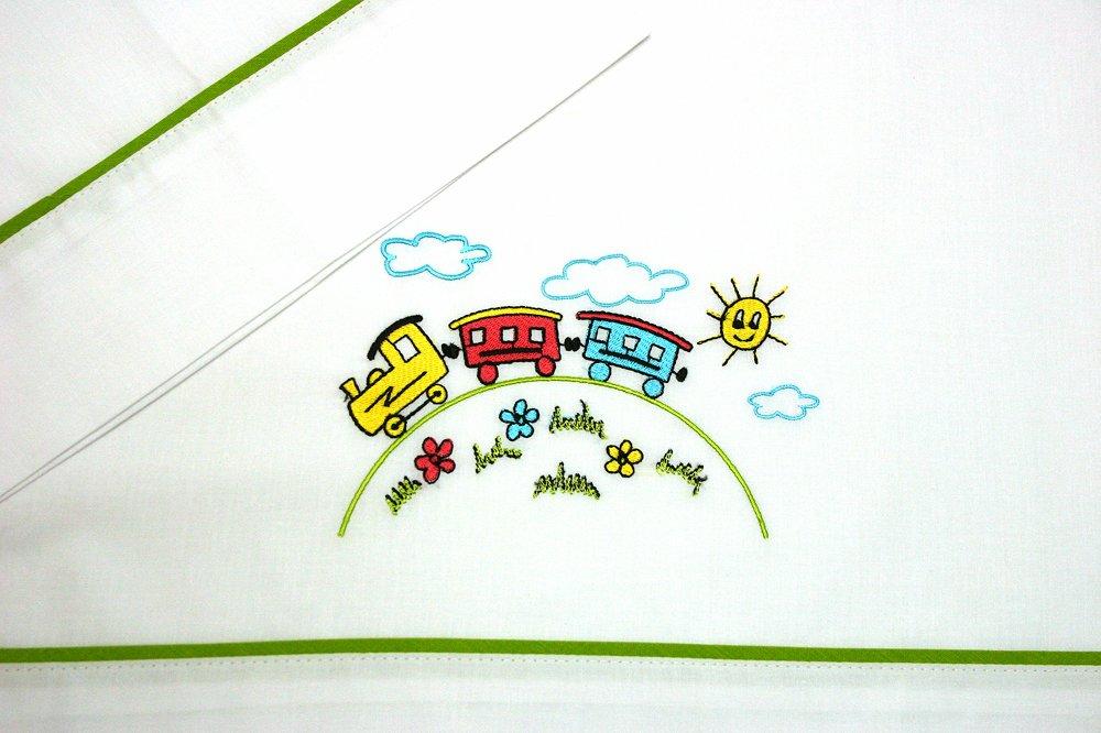 per lettino da 60/x 120/cm. Set di lenzuola ricamate per culla