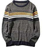 S&S Men's Fashion Couple Sweaters Crewneck Striped Decoration Pullover Jumper Sweater