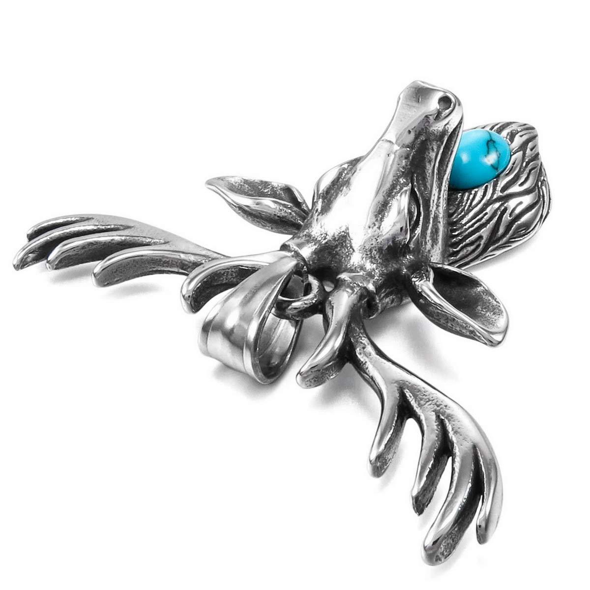 bdfc14752f87 Cupimatch Herren Edelstahl Halskette Gothic Stil mit Drache Anhänger 55cm  Junge Kette, Silber CU-