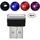 Pawaca, illuminazione auto USB LED, per interni auto, luce di atmosfera, wireless, universale, per auto, notebook, power bank