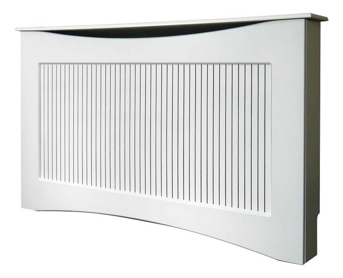 Adam Large Radiator Cover, 160 cm, White Fired Up Corporation Ltd