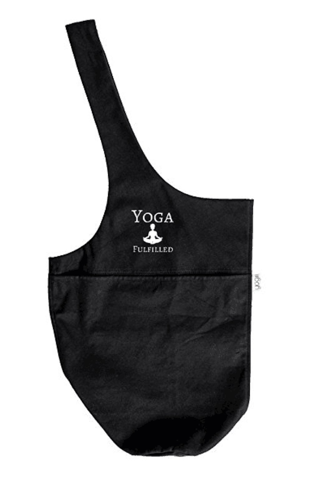 Yoga Fulfilled Yoga Mat Travel Tote Gym Bag Sling Carrier Strap w/Large Side Pocket and Zipper Pocket for Women/Men by Canvas Non Slip Slip Resistant Fits Most Yoga Mat Sizes