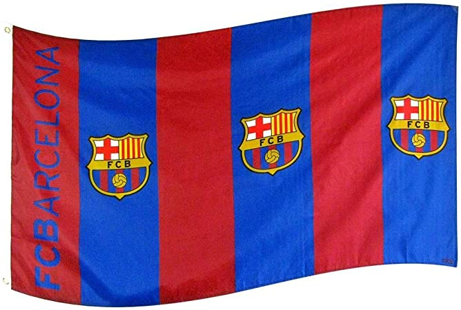amazon com fc barcelona flag bar sports fan outdoor flags garden outdoor fc barcelona flag bar