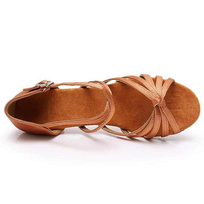 LILICAT ✈✈ 2019 Zapatos de Baile de Tango Latino para niños Zapatos de Baile Zapatos para Practicar Zapatos de Princesa Zapatos de Cuero pequeños Zapatos: ...