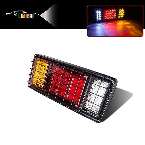 limicar 40 led trailer tail light bar waterproof turn signal brake reverse  running lights with iron