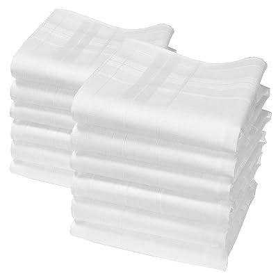 "12 pañuelos blancos - Modelo ""Camille"" - 35 centimetros: Hogar"