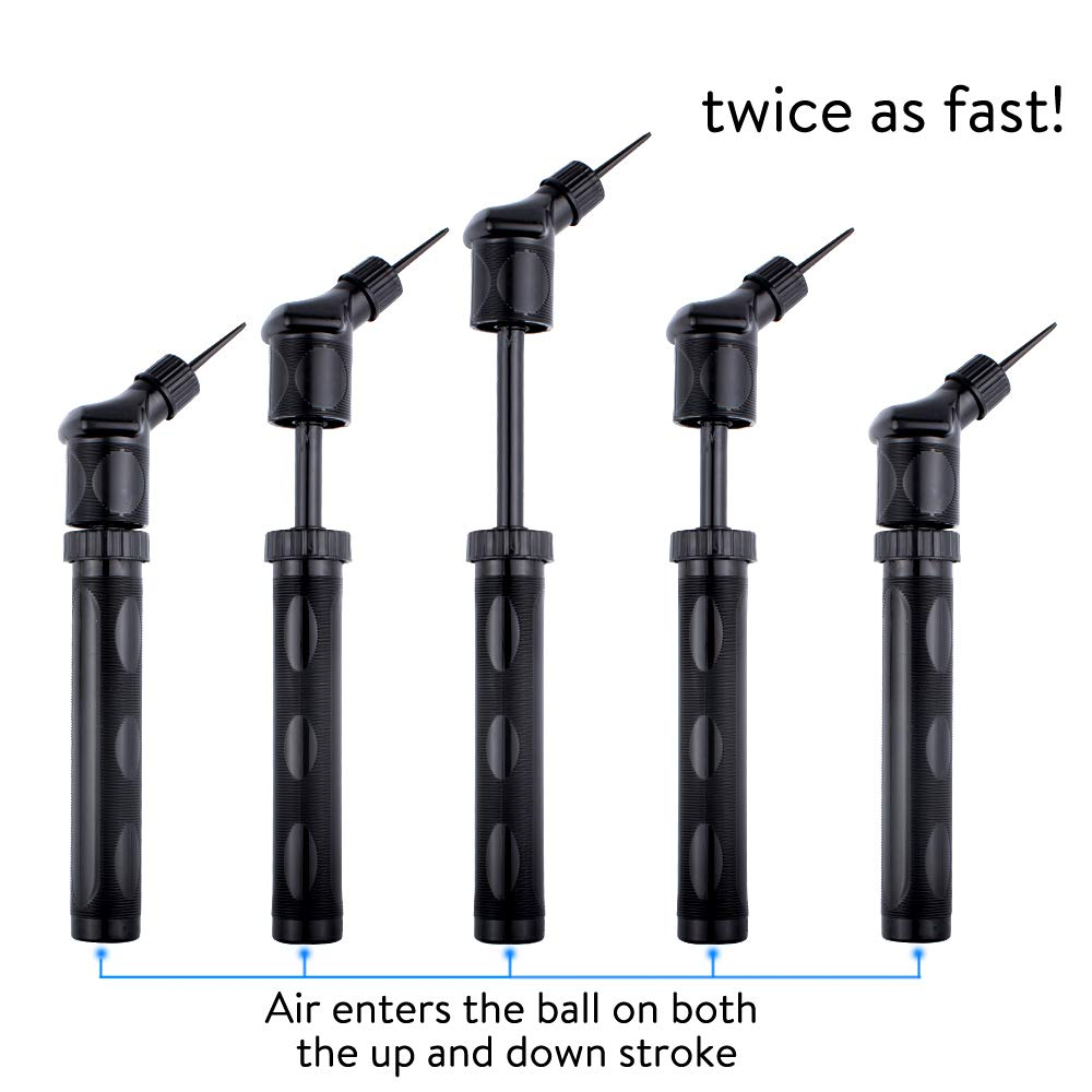 Xelparuc Small Dual Action Ball Pump - Air Pump for Inflatables with Needle for Basketball, Volleyball, Soccer, Football, and Sport Ball Inflation - 2 Extra Inflating Needles by Xelparuc (Image #4)