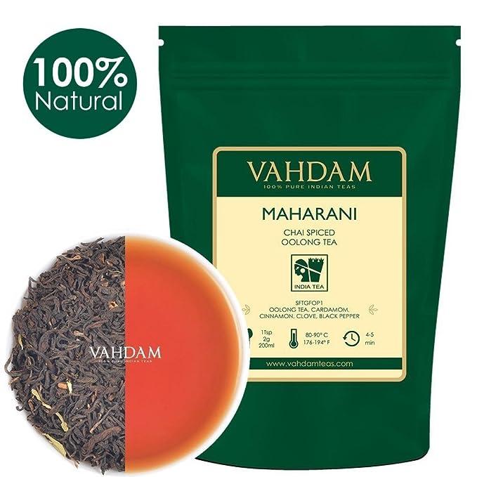 150 opinioni per Tè Oolong speziato Maharani Chai, raccolta direttamente dalle piantagioni di