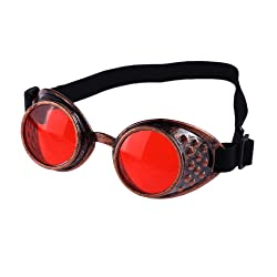 Halfbye Unisex Vintage Style Steampunk Goggles Welding Punk Glasses Cosplay Sunglasses For Men/Women