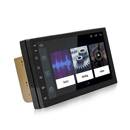 KKmoon Autoradio 2 DIN GPS, 7 Pollici Universale Navigatore GPS Android 7 0  Stereo Radio Auto, Schermo di Tocco Navigatore Auto GPS, multimediale
