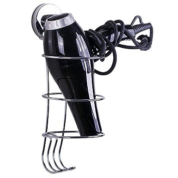 TAILI Haartrocknerhalter F/önhalter mit saugnapf Kabelhalter Befestigen Ohne Bohren zur Wandmontage Chrom Bad-Accessoires