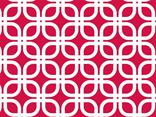 Geo Graphic Links Red and White Wrap Roll 24 Inch X 16 Feet (Wrap Holiday Decor Holly)