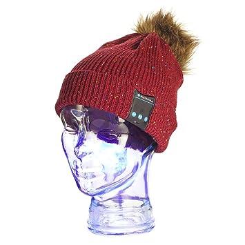 la migliore vendita offerte esclusive super economico Matana Berretto Bluetooth Cappello Inverno Wireless Unisex con Cuffie  Auricolari Stereo, Microfono Integrato, Mani Libere