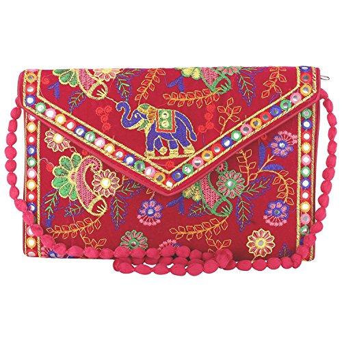 Bohemian Handmade Pink1 Vintage Indian Clutch handbags Jaipur Banjara Potli Tribal Rajasthani nwSRx0Efqx