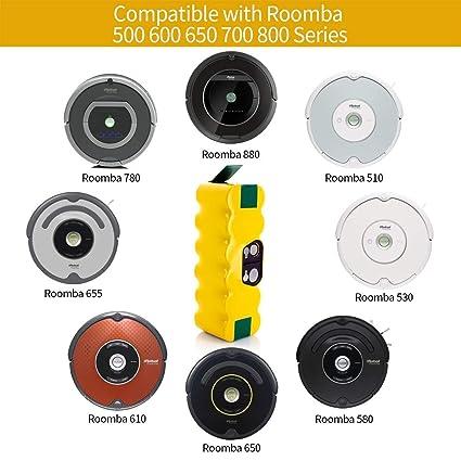 Supon Repuestos para iRobot Roomba Series 500 520 521 530 531 532 533 534 535 536 540 545 550 552 560 561 562 510 505 ect Kit Piezas Accesorios para iRobot Roomba 500-a