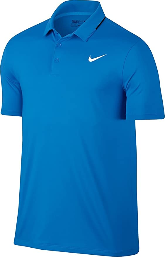 Nike Los Hombres de sólidos Secos Polo de Golf (Foto Azul, X-Large ...