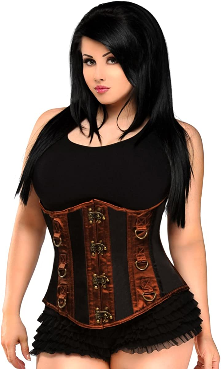 Daisy corsets Indefinitely Women's Top Drawer It is very popular Black Brown Steel Under Boned