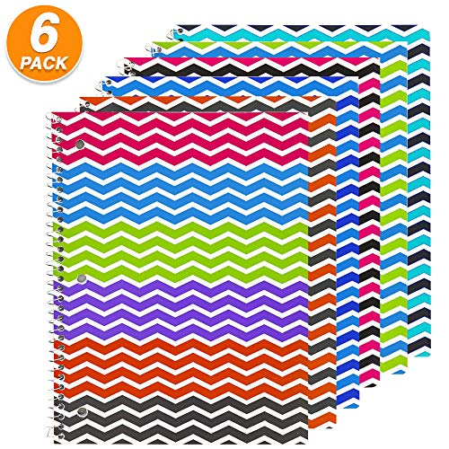 (Emraw Spiral Notebook 1-Subject College Rule Assorted Solid Color Covers Wirebound 70 Sheet Journal Paper Poly Notebooks for Travelers Class and Office Writing Diary (Pack Of 6))