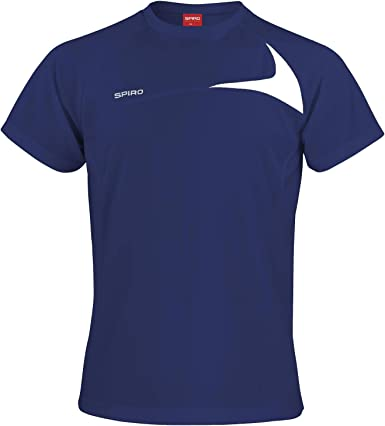 Mens sports top Spiro Mens Dash Training Shirt Activewear sizes s to 4xl