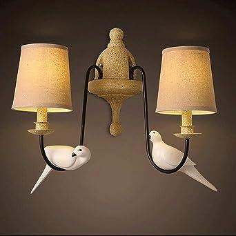 HAIZHEN Style Pastoral Salon Chambre à coucher lampe de chevet mural ...