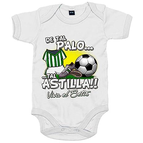 Body bebé De tal palo tal astilla Betis fútbol - Blanco, 6 ...