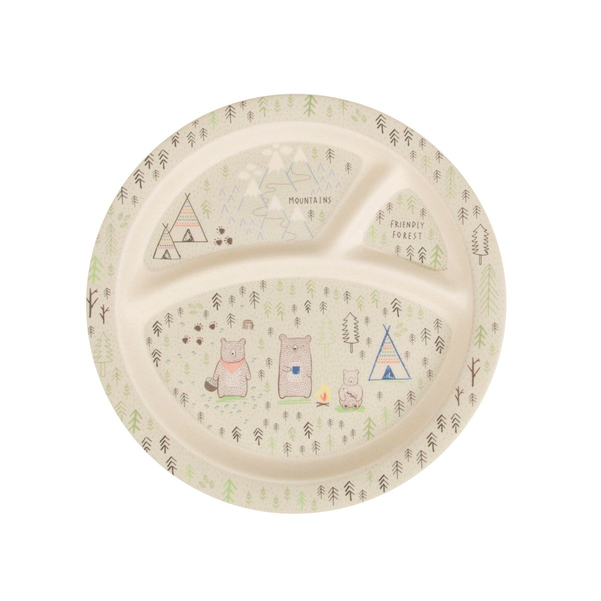 Bear Camp Kid's Plate Bear Camp Kid's Plate RJB Stone