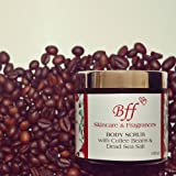 Bff Skincare and Fragrances Body Scrub with Coffee Beans and Dead Sea Salt for Young Radiant Glow, 100g