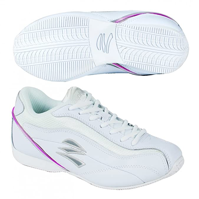 Amazon.com | Zephz Thunder Cheerleading Shoe Womens - White 9.5 | Team Sports