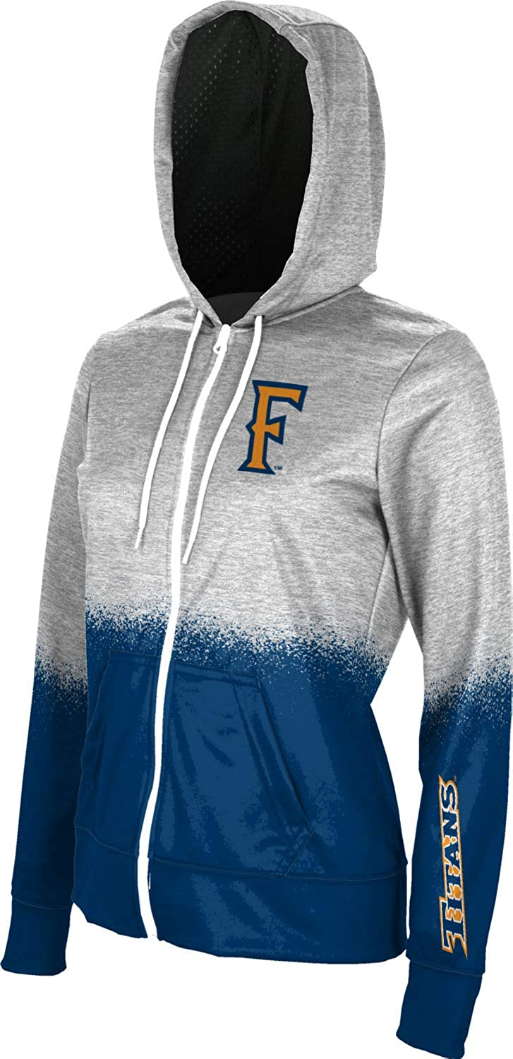 Spray Over School Spirit Sweatshirt ProSphere California State University Fullerton Girls Zipper Hoodie