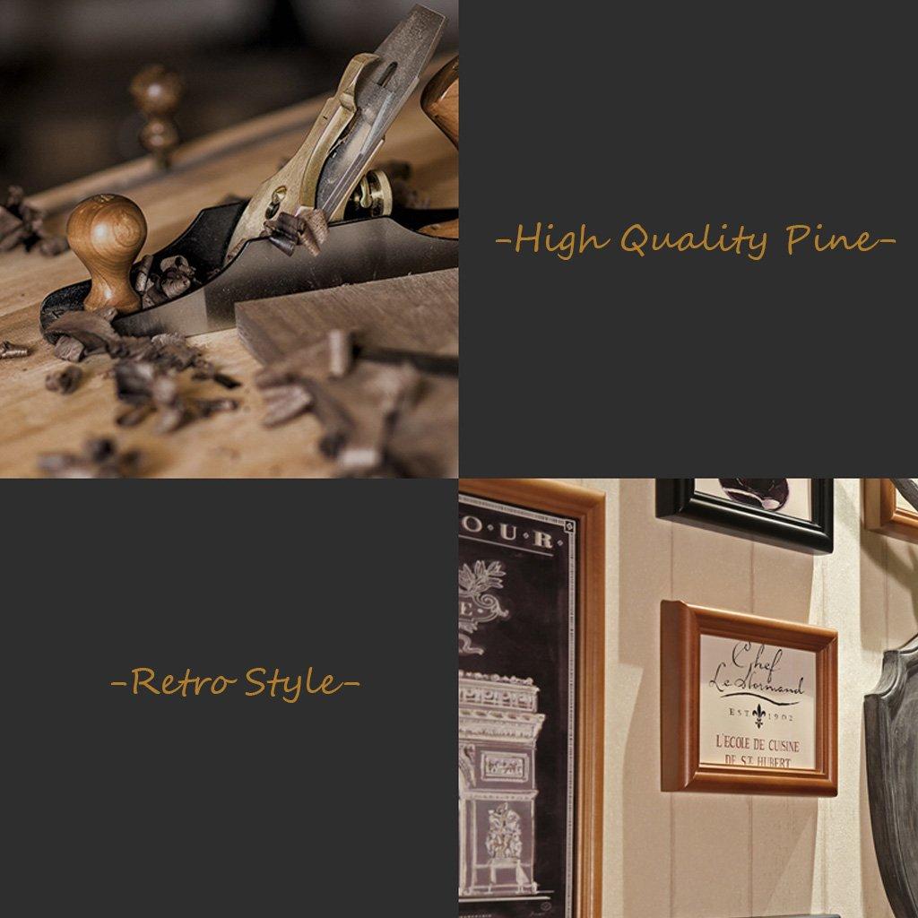Amazon.de: Holz Bilderrahmen Mehrere Fotos Wandset 16 Stück Vintage ...