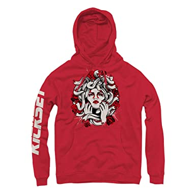 4a20ad3a512 Platinum Tint 11 Medusa Red Hoodie to Match Jordan 11 Platinum Tint  Sneakers (Small)