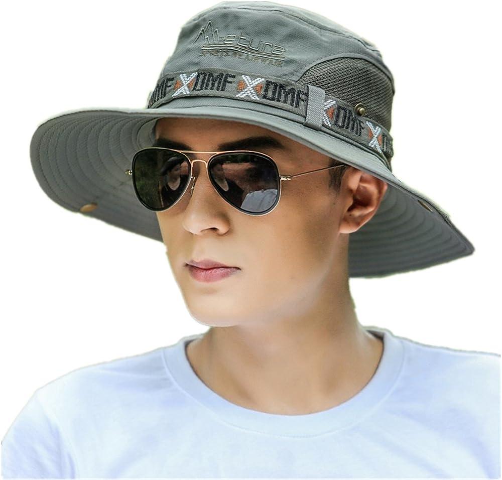Summer Unisex Fishing Hat, Men Women Wide Brim Packable