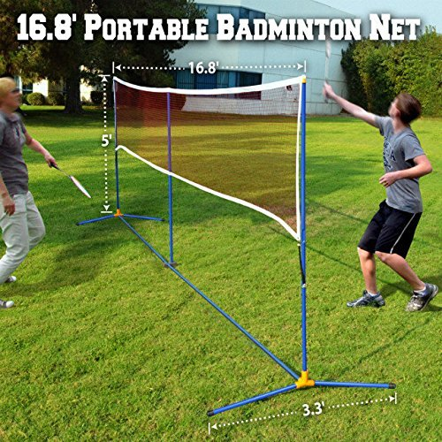 BenefitUSA 3-IN-1 Portable Training Beach Volleyball Tennis Badminton Net Set With Carrying Bag 16.7' L by BenefitUSA (Image #1)