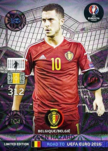 Tarjeta de Topps UCL Fútbol Juego De Living-Primera tarjeta Eden Hazard Real Madrid #29