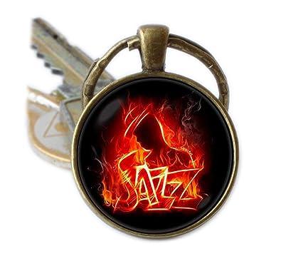 Jazz Saxofón llavero llavero llavero para saxofón música ...