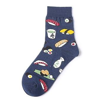 CHAOJI Calcetines 6 Pares De Calcetines De Otoño E Invierno Coreano Creativo Dibujo Animado Comida Sushi Calcetines para Mujer Tubo Calcetines De Algodón ...