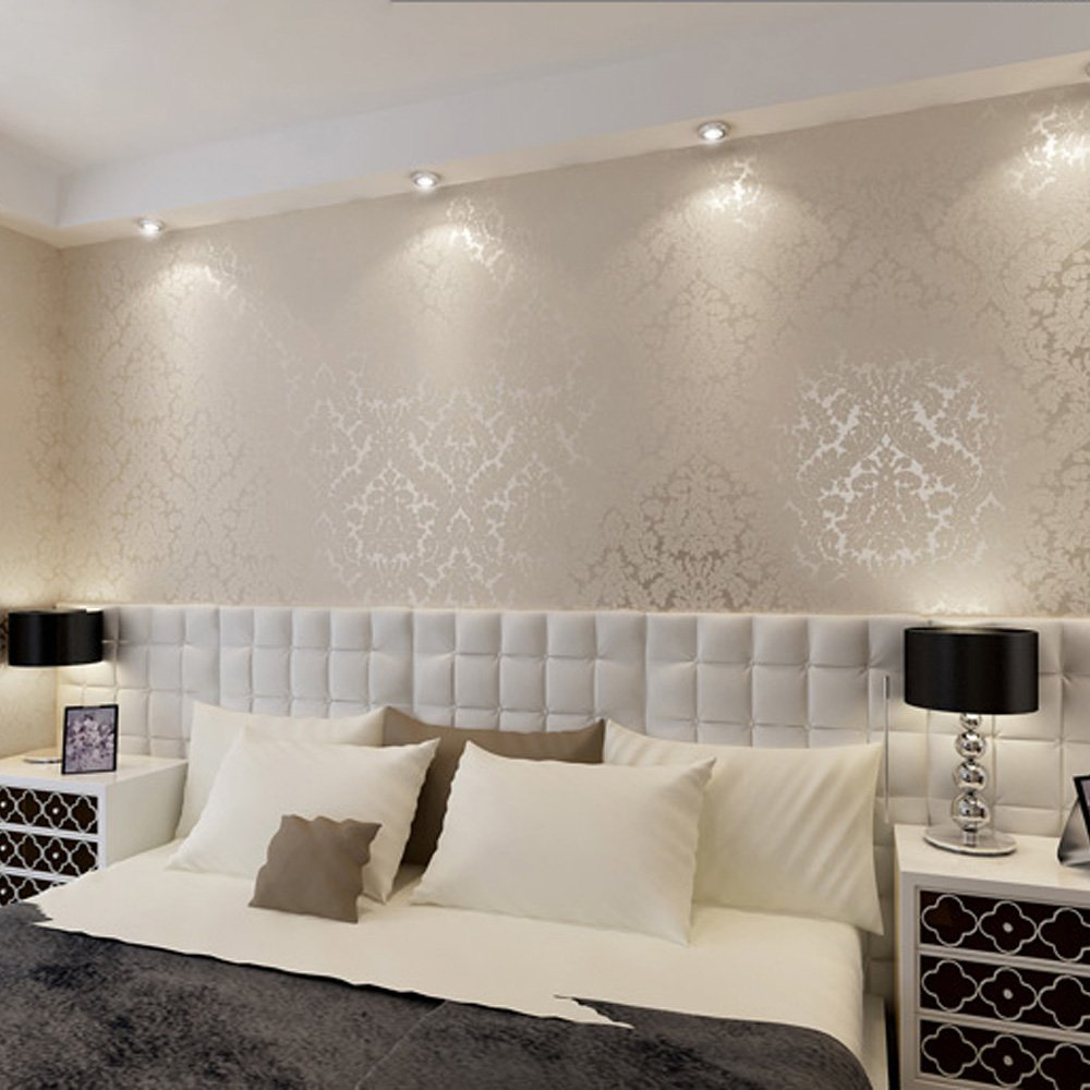 QIHANG European Vintage Luxury Damask Wall Paper PVC Embossed ...